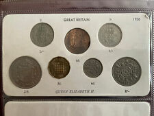 More details for 1958 great britain elizabeth ii coin year set half crown to half penny