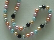 """10MM Multicolor #75 AAA South Sea Shell Pearl Necklace 18"""" NEW (with gift bag)"""