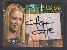 GRIMM SEASON 1 (Breygent/2013) AUTOGRAPH CARD #CCAC-1 CLAIRE COFFEE
