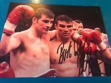 Robin Reid v Joe Calzaghe Signed Photo. Boxing Memorabilia Autograph