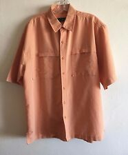 Field & Stream Camp Shirt Plaid Check Button Front Vented Men's Large NWOT