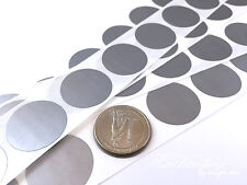 """25 - Scratch Off Labels 1"""" Round Silver Stickers (25.4mm)"""
