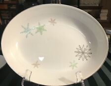 Harmony House Japan ATOMIC Snowflake Winter Oval Vegetable Serving DISH