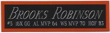 BROOKS ROBINSON ORIOLES NAMEPLATE AUTOGRAPHED SIGNED BASEBALL-BAT- JERSEY-PHOTO