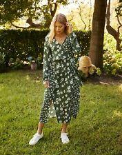 Joules Womens Chloe Fixed Wrap Dress - GREEN DAISY