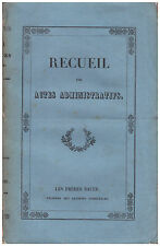 RECUEIL DES ACTES ADMINISTRATIFS DE LA PREFECTURE DEPARTEMENT DE L'ARDECHE 1830