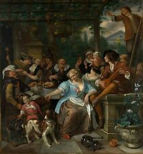 Merry Company on a Terrace ca.1670 by Jan Steen (Dutch) Old Masters 11x12 Print