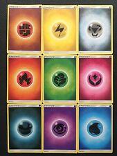 Pokemon TCG : 90 x Sun and Moon Base Set Energy Cards (10 of each kind!)