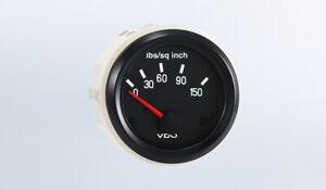"""VDO gauge Oil pressure 150 psi genuine Cockpit 350-041,2""""/52mm, spin-loc,harness"""