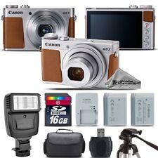 Canon PowerShot G9 X Mark II Digital 20.1MP Camera + EXT BAT + Flash - 16GB Kit