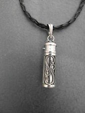 Balinese Sterling Silver Prayer Box pendant with cord