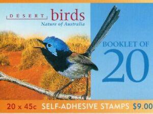 MINT 2001 DESERT BIRDS NATURE OF AUSTRALIA $9 P&S  BOOKLET 2K - 2KOALA