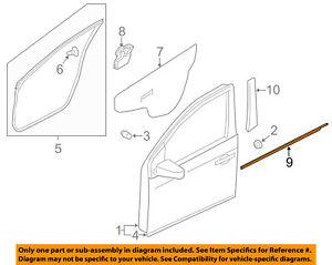 NISSAN OEM Juke-Door Window Sweep-Belt Molding Weatherstrip Right 808201KA0A
