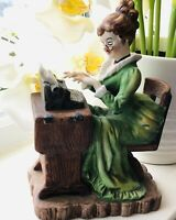 Typing Figurine Vintage Women Typist Lady Geo Z. Lefton