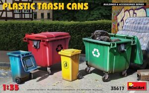 Miniart 35617 - 1/35 Plastic Trash Cans scale model Buildings and Accessories