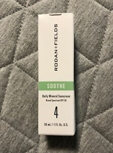 New Rodan + Fields Soothe Step 4, Daily Mineral Sunscreen, SPF 30, Exp 1/23