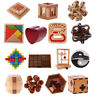 3D Puzzle Wooden Intelligence Toy Chinese Brain Teaser Game Toy for Kids Adults