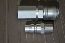 "Stainless Steel  Air Coupler with Plug 1/4"" NPT female,MPP Style Made in USA"