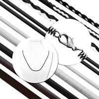 Halskette Leder Kette Halsband Für Anhänger Surferkette Schwarz Weiß Braun