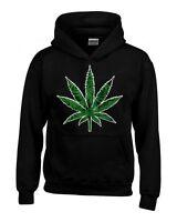 Marijuana Weed Leaf Hoodie Cannabis Kush Stoner Bob Marley 420 Sweatshirts