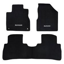 2009-2013 Nissan Murano Black Front & Rear Carpet Floor Mats Set OEM NEW