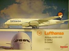 Herpa Wings 1:200 Airbus A380-800  Lufthansa Brüssel 550727-004 Modellairport500