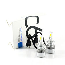 Top Car LED H7 Headlight Plug Bulb 6000K 72W 7600LM Xenon White C6 All In One 2X