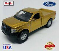 Maisto Power Racer Diecast Metallic Gold 2012 Ford F-150 XL 1:50