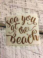 Sea Beach Ocean Vinyl Decal for Stainless Tumblers, Coffee Travel Cups, Mugs