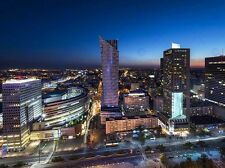 NIGHT PANORAMA OF WARSAW CITY POLAND PHOTO ART PRINT POSTER PICTURE BMP2243A