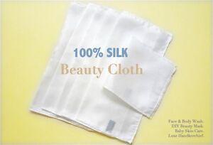 Luxury 100% pure Silk Cleanse &Polish Beauty face/body/baby cloth Detox Skincare