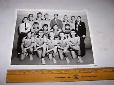 1965 OTTER CREEK JR HIGH SCHOOL Basketball Team Photo TERRE HAUTE INDIANA