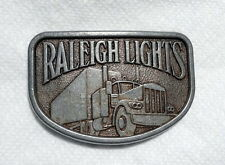 VTG Raleigh Lights Cigarettes Promotional Metal Belt Buckle–Collectable–Ad
