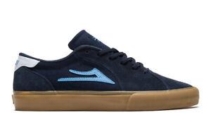 Lakai Skateboard Shoes Flaco II Navy/Gum Suede Mens