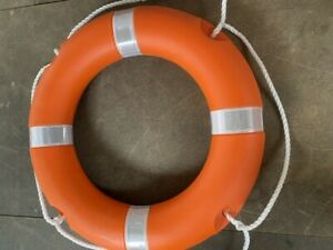 "Lifebuoy Life Ring Orange 24"" with Reflective Solas Tape  Free Postage"