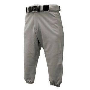 Franklin Deluxe Baseball - Softball Pants Gray Youth Medium