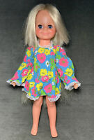 "Vintage Ideal 1971 ""Velvet"" Doll Crissy Family Hair Grow Floral Mod Dress"