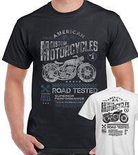 American Custom Motorcycles T-Shirt Mens Retro Biker Indian Victory Motorbike
