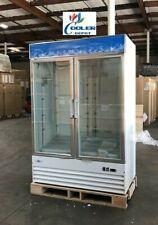 New Commercial Two Glass Door Freezer Icedouble Merchandiser Frozen Nsf Etl