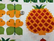 BEST Vintage Feedsack Quilt Fabric 40s Novelty Fruits Butterfly Full Sack WWII