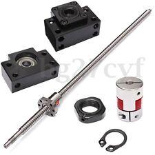 Set Antibacklash Ball Screw SFU 1605 L650mm C7+ BK/BF12 + 2 6.35*10mm Couplers