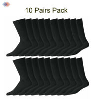 10 Pairs Mens Casual sports work Warm Black Socks Winter Cotton Rich Size 7-12