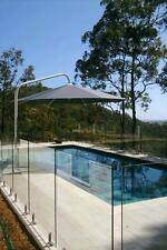 Umbrella 5 metre  Large Outdoor  Cantilever No valance Black /Charcoal Acrylic