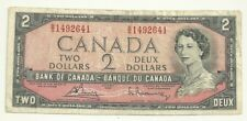 1954 Canada 2 dollar Bill B/G1492641 Bouey/Rasminsky