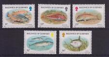 GUERNSEY 1985 FISH FISHES STAMP SET MNH SG 332-336