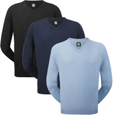 FootJoy Mens Lambswool V-Neck Golf Pullover Sweater