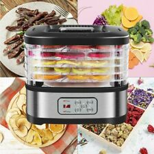 New ListingFood Dehydrator Stainless with 5 Bpa Free Trays Digital Temperature and Timer Us