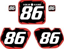 New listing 1985-1986 HONDA CR 125 Pre Printed Black Backgrounds with Red Shock Series
