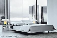 Poliform Zoe Platform Queen Bed Designed by Paolo Piva.  Excellent condition.
