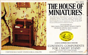 The House of Miniatures Chippendale Night Stand Circa 1750-1790 Unused